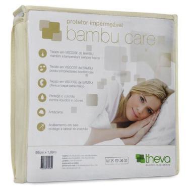 Imagem de Protetor Colchão Impermeável Bambu Care Casal Queen 158X198 Theva - Co