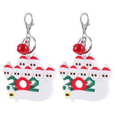 Imagem de BESPORTBLE Tema de Natal Escola Chaveiro Saco Acessórios Chave Do Carro Anel Chave Do Padrão Do Boneco de Neve Da Árvore de Natal Ornamentos 7PCS