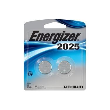 Bateria Botao Energizer 2025 Lithium 3V Cartela com 2 CR2025