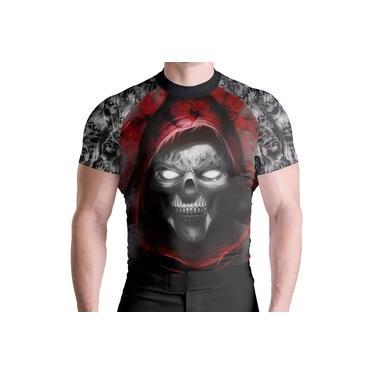 Imagem de Rash Guard Skull Red Térm Prot UV ATL