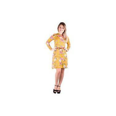 a81b42b33c Vestido Banna Hanna Estampado Amarelo Verde Rosa