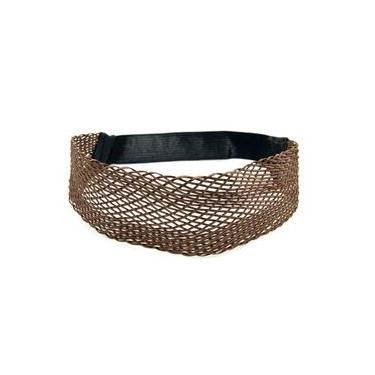 Headband Largo Transado Marrom