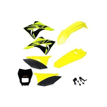 Kit Plástico Biker Elite Crf 230 Adesivos Carenagem Farol X cell