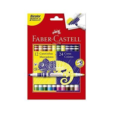 Caneta Hidrográfica FABER-CASTELL Bicolor 12 Unds / 24 Cores