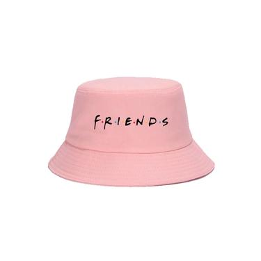 Boné Chapéu Bucket Hat New Unissex Friends Série rosa