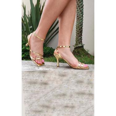 Sandália Tiras Le scarpe di Bruna - Dourada  feminino