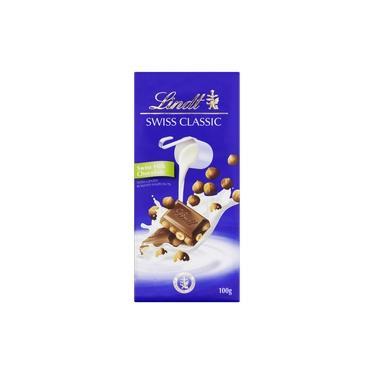 Chocolate Suiço ao Leite com Avelã Lindt Swiss Classic 100g Mega Oferta