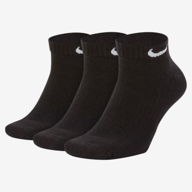 Meia Nike Everyday Cushion Cano Baixo (3 pares)
