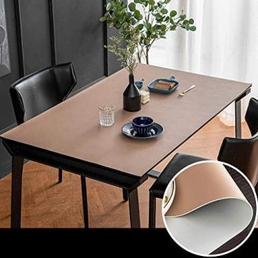 Imagem de Toalha de mesa retangular 80 * 80 cm, conjuntos de toalha de mesa para sala de jantar, protetor de cobertura de mesa, oblongo, à prova d'água, à prova de óleo, anti-escaldamento, limpeza fác