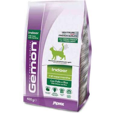 Ração Gemon Indoor Frango e Arroz para Gatos Adultos - 400 g