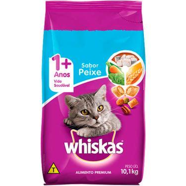 Ração Seca Whiskas Peixe para Gatos Adultos Castrados - 10,1 Kg