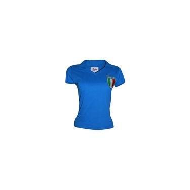 Imagem de Camisa Itália 1982 Liga Retrô Feminina Azul