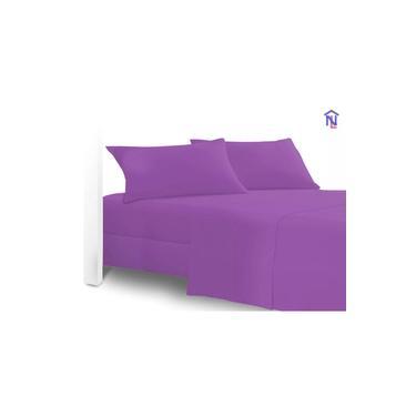 Imagem de kit 10 lençol casal jogo 03 peças - 02 fronhas + 01 lençol debaixo c/elastico20cm cor lilás