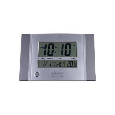 672bf317450 Relógio De Parede E Mesa Digital Moderno Termômetro Com Duas Escalas Timer  Alarme Melodia Herweg Cin
