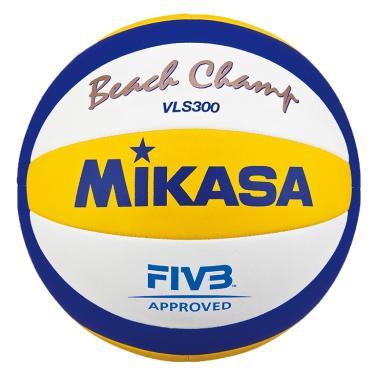 Bola de Vôlei de Praia Mikasa VLS300 - Branco/Azul/Amarelo