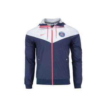 Jaqueta PSG Windrunner 18 19 com Capuz Nike - Masculina - AZUL ESC BRANCO 178f9af02fee4