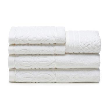 cab97ca4b jogo de toalhas de banho santista 5 peças platinum ligia branco
