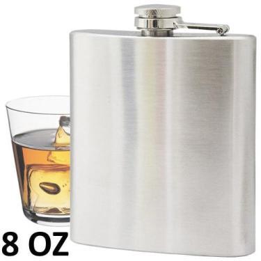Imagem de Porta Whisky De Aço Cantil 8 Oz 236Ml Cbrn01446 - Commerce Brasil
