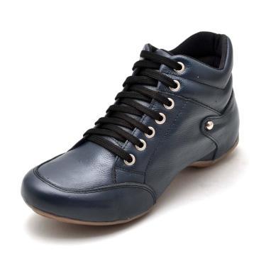 Bota Sport Clube do Sapato de Franca Top Confort Azul-Marinho  feminino