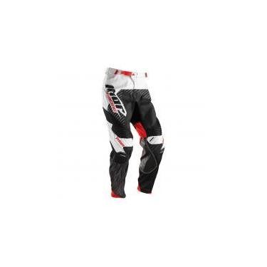 Calça para Motocross Thor Core 16 Hux - Branco/Preto - 40 -