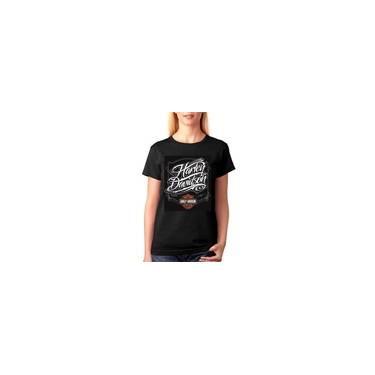 Camiseta Harley Davidson Feminina Baby Look Preta 886e0370b3a9e