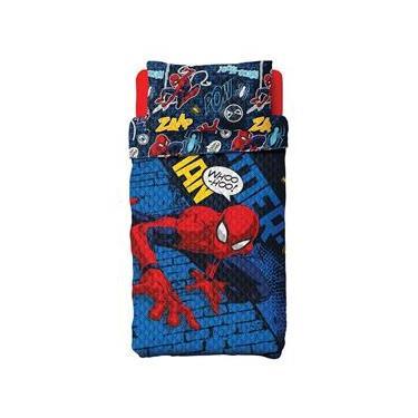 Colcha Infantil Spider Man Menino Dupla Face 2 Peças Lepper
