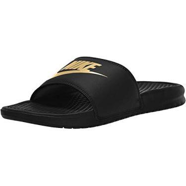 Chinelo Nike Benassi Just Do It Masculino 343880-016, Cor: Preto/dourado, Tamanho: 38