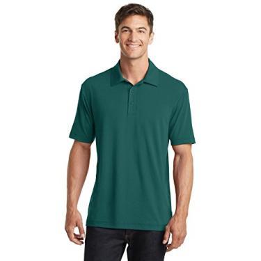 Camisa polo Touch Performance Port Authority algodão, verde exuberante, média