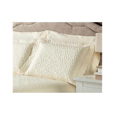 Imagem de Fronha para Travesseiro Plumasul Matelassê Soft Touch em Microfibra Poliéster com 300 Fios 50 x 70 cm - Bege
