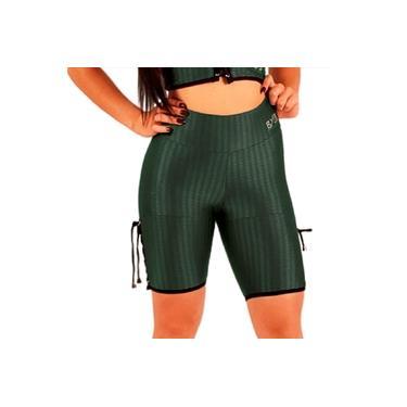 Imagem de Shorts legging GG academia feminino fitness BYG Ozzy Militar