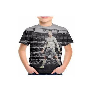 Camiseta Infantil Cristiano Ronaldo Futebol Cr7 Promoção
