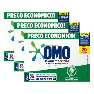Sabão em Pó Omo Lavagem Perfeita - Sanitiza e Higieniza Concentrado 1,