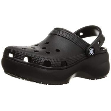 Sandália Classic Platform Clog, Crocs, Adulto-Unissex, Black, 36