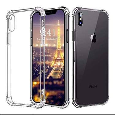 Capinha transparente Antishock para iPhone X e Xs 5.8 polegadas + Película de vidro + kit Limpeza (Promoção Limitada) Mais barato pra você