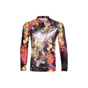 Camiseta Masculina King Brasil Kff80 Sublimada Proteção Uv 50+ 348d7caa2de36