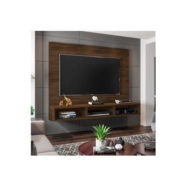 Painel Home Suspenso para TV até 55 polegadas Quartzo - Móveis Leão