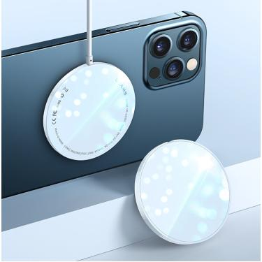 Carregador magnético sem fio USAMS Super Thin 15W para iPhone 12 Mini / 12/12 Pro/12 Pro Máx para Samsung Galaxy Note S2 Banggood