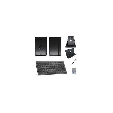 """Kit Capa/Teclado/Can/Pel Galaxy Tab E T560/T561 9.6"""" Preto"""