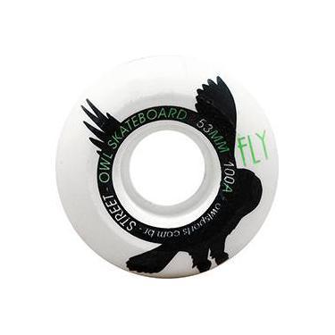 Roda para Skate Fly 53mm Owl Sports - Branco