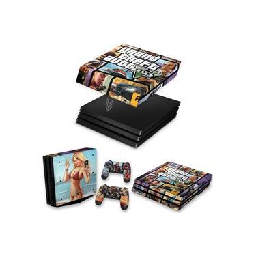 Capa Anti Poeira e Skin para PS4 Pro - Gta V