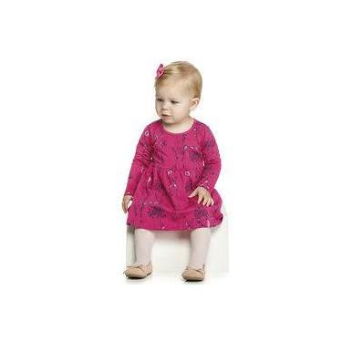 Vestido Bebê Manga Longa C/ Calcinha Elian P M E G