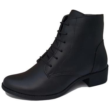 Bota Navit Shoes Lara Tratorada Preto  feminino