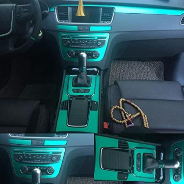 NCUIXZH Maçaneta da porta do painel de controle central interno 3D / 5D Adesivos de fibra de carbono Decalques Acessórios de estilo de carro , Para Peugeot 508 2011-2017
