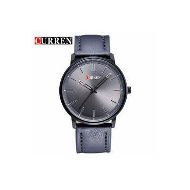 6a39fb9ef3 Relógio Curren Masculino Couro Quartz Modelo 8233