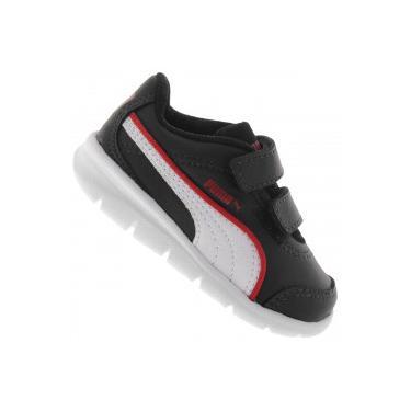 Tênis para Bebê Puma Stepfleex Run SL V - Infantil - PRETO BRANCO Puma 98dc37d9091da