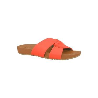 Tamanco Usaflex Ac4003 Pelica Coral Confortável
