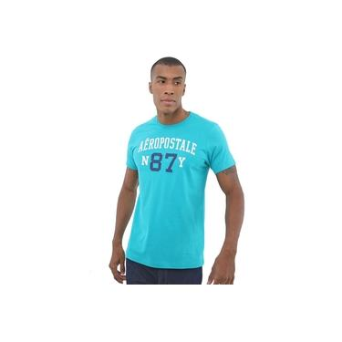 Camiseta Aeropostale Masculina N87Y Logo Verde