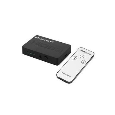 HDMI Splitter 3 portas Cube Automatic Switch Box 3-em-1 A saída digital 1080p HD 1.4 com controle remoto HD TV Projector XBOX360 PS3
