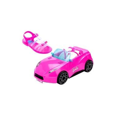 Sandalia Barbie Infantil Menina Carro Brinde Menina Kids Pink Car Grendene