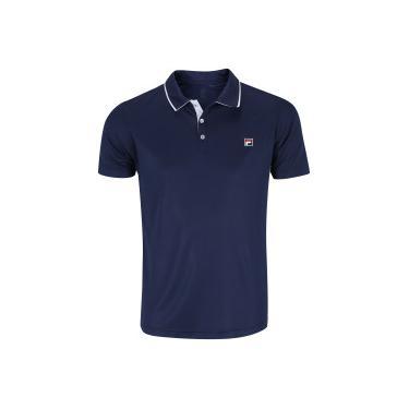 Camisa Polo Fila Open II - Masculina - AZUL ESC BRANCO Fila 02efc5ed35181